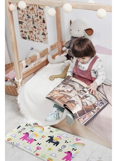 Hamur Bebek Çocuk Ev İçi Kapı Önü Paspası 50x75 cm Pony Oyun Matı Renkli